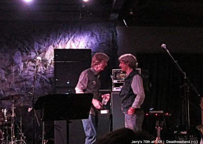 Phil talks to Mike Gordon of Phish after the show, Jerry Garcia's 70th Birthday at TXR  Deadheadland (~);} (16)