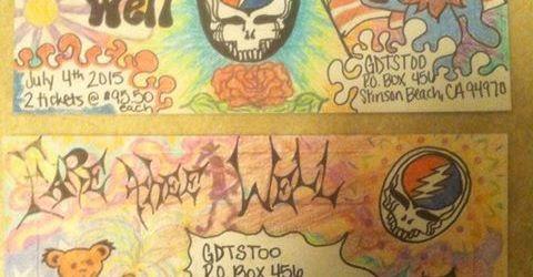 Awesome Grateful Dead Mail Order Envelope art shared by DHL fans #Dead50