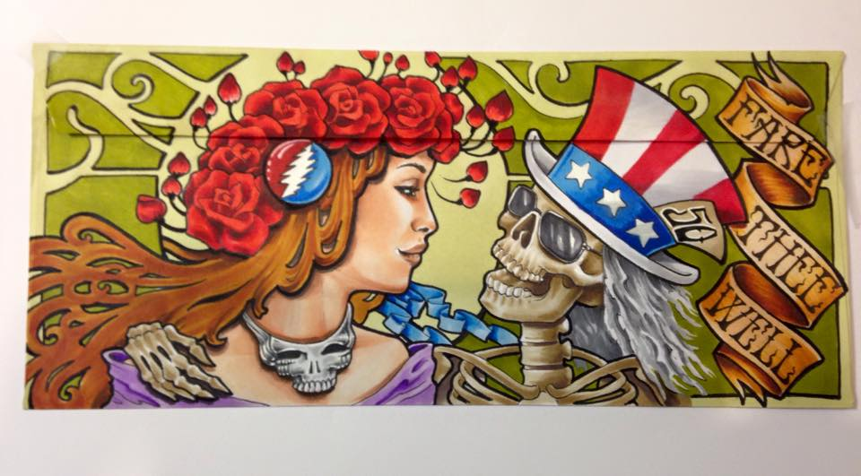 Awesome Grateful Dead Mail Order Envelope Art Shared By