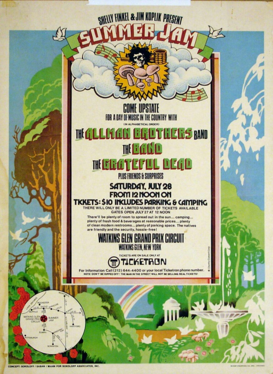 VIDEO: The scene at Watkins Glen Summer Jam 1973 Grateful Dead #Dead50
