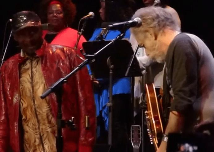 "VIDEO: Jimmy Cliff + Bob Weir –  ""Fire on the Mountain"" #DearJerryConcert"
