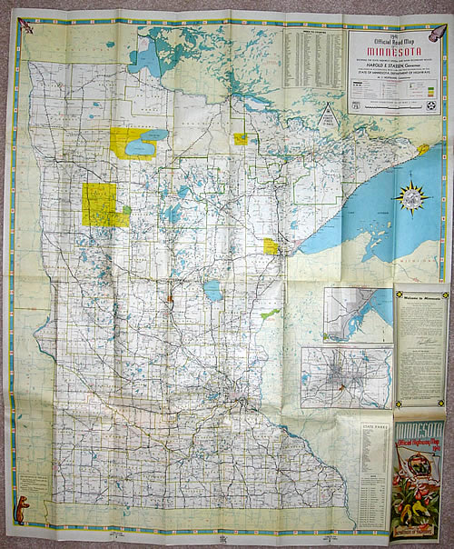 1941 Official Road Map of Minnesota