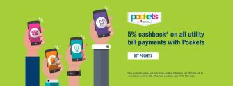 Pockets 5 cb on utility bill payments