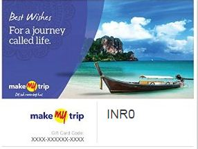 Get Makemytrip E-Gift Card At Rs 750 Only @ Amazon