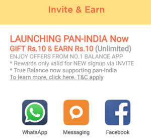 truebalance app refer and earn unlimited recharge