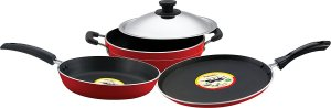 Amazon- Buy Pigeon Rapido Induction Base Non-Stick Cookware Gift Set