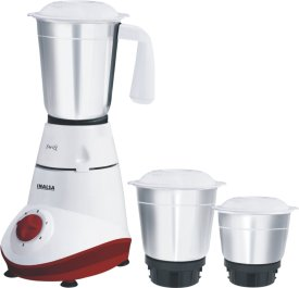 Amazon - Buy Inalsa Swift 500-Watt Mixer Grinder with 3 Jars (White and Red) at Rs 1,540 Only