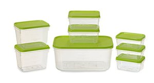 All Time Plastics Polka Container Set, Set of 8, Green Rs 114 only amazon