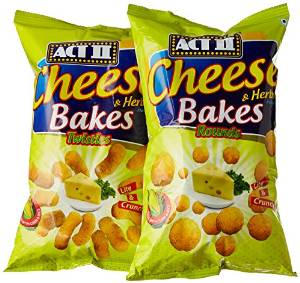 Amazon- Buy ACT II Cheese Bakes Combo, 110g (Buy 1 Get 1 Free) at Rs 40 + free shipping