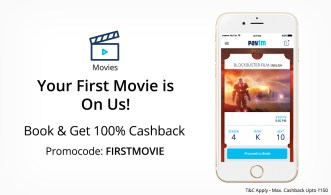 Paytm loot- Get flat 100% cashback on booking your First Movie ticket (Max upto Rs 150)