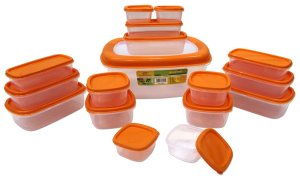 Princeware SF Packing Container, 17-Pieces, Orange Rs 293 only amazon