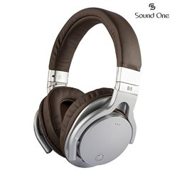 Amazon - Buy Sound One B-5 Bluetooth Wireless Headphones with Mic (Silver Brown) at Rs 1,990 only