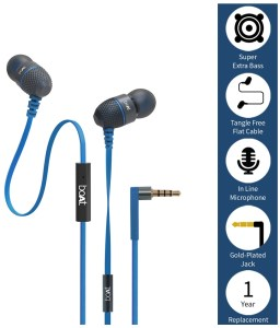Snapdeal - Buy boAt BassHeads 200 In Ear Wired With Mic Earphones Blue at Rs 419 only