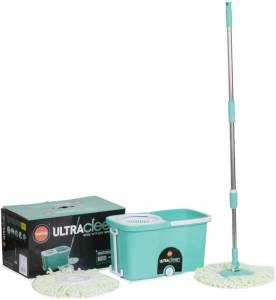 (Hurry) Amazon – Buy Bathla Ultra Clean Easy Spin Mop with Refill and Dispenser (Green and White, 3-Pieces)  at Rs 699