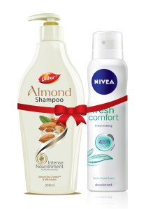 Dabur Almond shampoo 350 ml with Free Nivea Deo worth Rs 190 at Rs 240 only