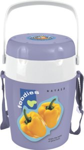Amazon – Buy Nayasa Foodies Plastic Tiffin, 4-Pieces, Blue at Rs 289 only