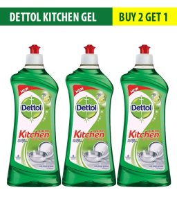 Snapdeal - Buy Dettol Kitchen Gel Lime 750 ml Buy 2 Get 1 Free at Rs 272 only