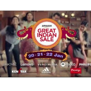 amazon great indian sale 20th January