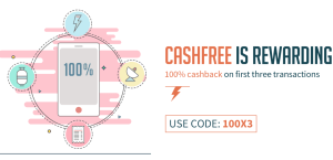 freecharge get 100 cashback on your first 3 transactions