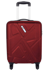 Safari Traffik-Anti Scratch Red 4 Wheel Hard Luggage-Size Small (Below 60 Cm)