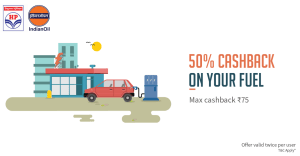 hp and indian oil petrol pumps get flat 50 cashback on petrol