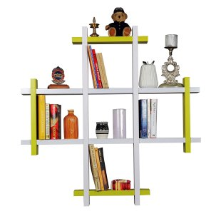 Amazon - Buy Forzza Lydia Lacquered Shelf (White) for Rs.849 (65% off)
