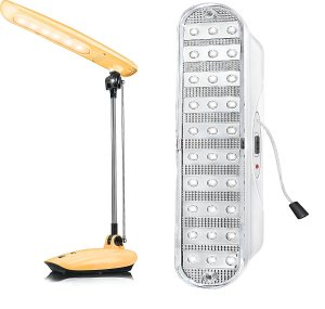 Amazon GIF 2017 – Buy Eveready SL02 6-LEDs Study Light (Yellow) + Eveready REL01 30-LEDs Portable Lamp at Rs 1899 only