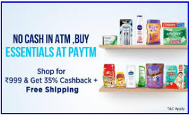 Get 35% Cashback On Order Of Rs.999 Or More at FMCG + Free Shipping