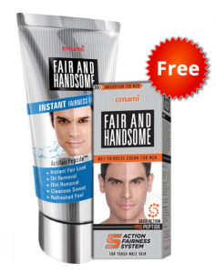 Fair & Handsome Instant Fairness Face Wash 100gm + Fair handsome cream 30gm, Free