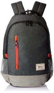 Amazon - Buy Gear Polyester 24 Ltrs Charcoal Grey-Orange Casual Backpack at Rs 638 only