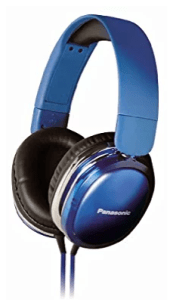 Panasonic RP-HX350ME Blue Over-Ear Headphones w/Mic for iPod/MP3player/Mobiles