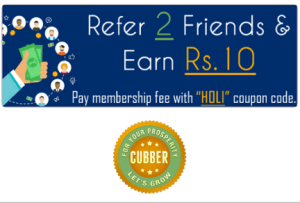 cubber app refer 2 friends and get Rs 10 for free