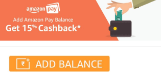 Amazon Extra Balance Offer – Get upto 15% Extra while adding money to Amazon pay Balance (First Time)