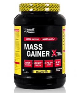 Healthvit Fitness Mass Gainer Xtra Chocolate Flavour (2KG4.4lbc) at Rs.1,200
