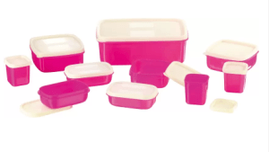 MasterCook COMBO-X-3-PINK Plastic Multi-purpose Storage Container (Pack of 10, Pink) at Rs.149