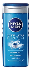 Nivea for Men Vitality Fresh Shower Gel, 250ml