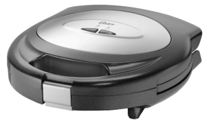 Oster CKSTSM3887 700-Watt 2-Slice Sandwich Maker (Black)