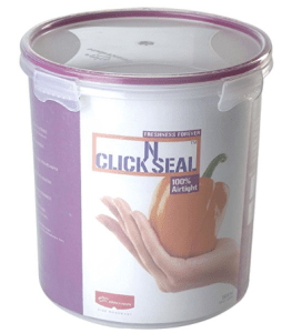 Princeware Click N Seal Canister, 3.82 Litres, Violet at Rs.222