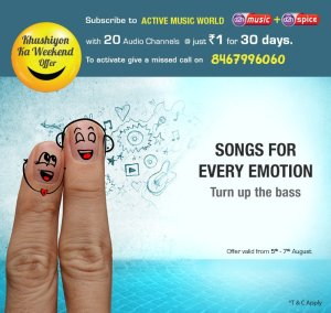 Videocon-d2h-Khushiyon-Ka-Weekend-Offer-Get-Active-Music-World-Pack-at-Re-1-only