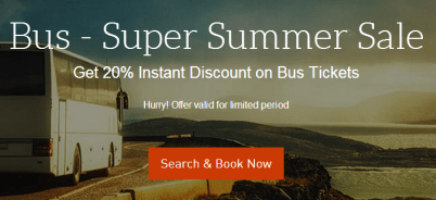 MakyMyTrip – Get 20% instant discount upto Rs.120 on Bus Tickets