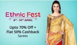 paytm ethnic fest sarees