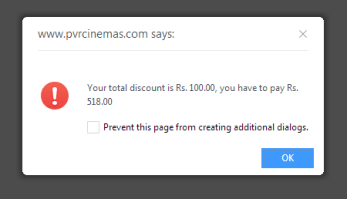 PVR100 Rs.100 discount