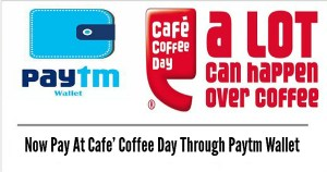 15% cashback when you pay via paytm wallet @ Cafe coffee day