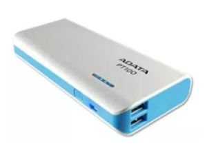 Amazon – ADATA PT100 10000mAH Power Bank (White-Blue) at Rs 649