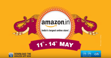 Amazon great indian sale May 11th to 14th, 2017