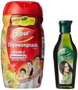 Dabur Chyawanprash - 500 g with Free Amla Hair Oil - 45 ml Worth Rupees 20 at Rs 110 only amazon