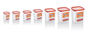 Nayasa Easy Plastic Container Set, 7-Pieces, Red at rs.364