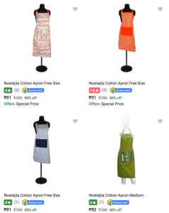 Flipkart – Buy Nostaljia Apron at Rs 91 only
