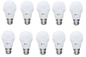 Amazon-Orient Electric ES_9W_CDL10 Round Base B22 9-Watt LED Bulb (Pack of 10) at Rs.789