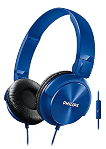 Philips Shl3095Bl/94 Dj Style Monitoring Headphone With Mic (Blue)
